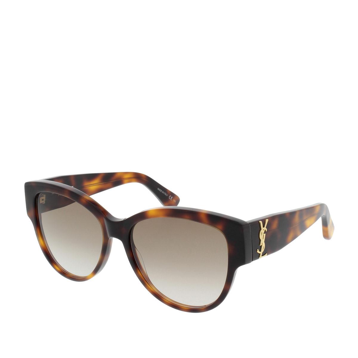 Saint Laurent Sonnenbrille - Monogram Sunglasses Avana/Brown SL M3 005 55 - in braun - für Damen