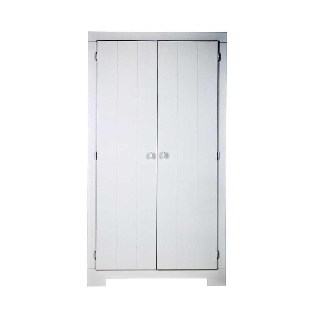 Schlafzimmer Kleiderschrank in Weiß Kiefer 110 cm