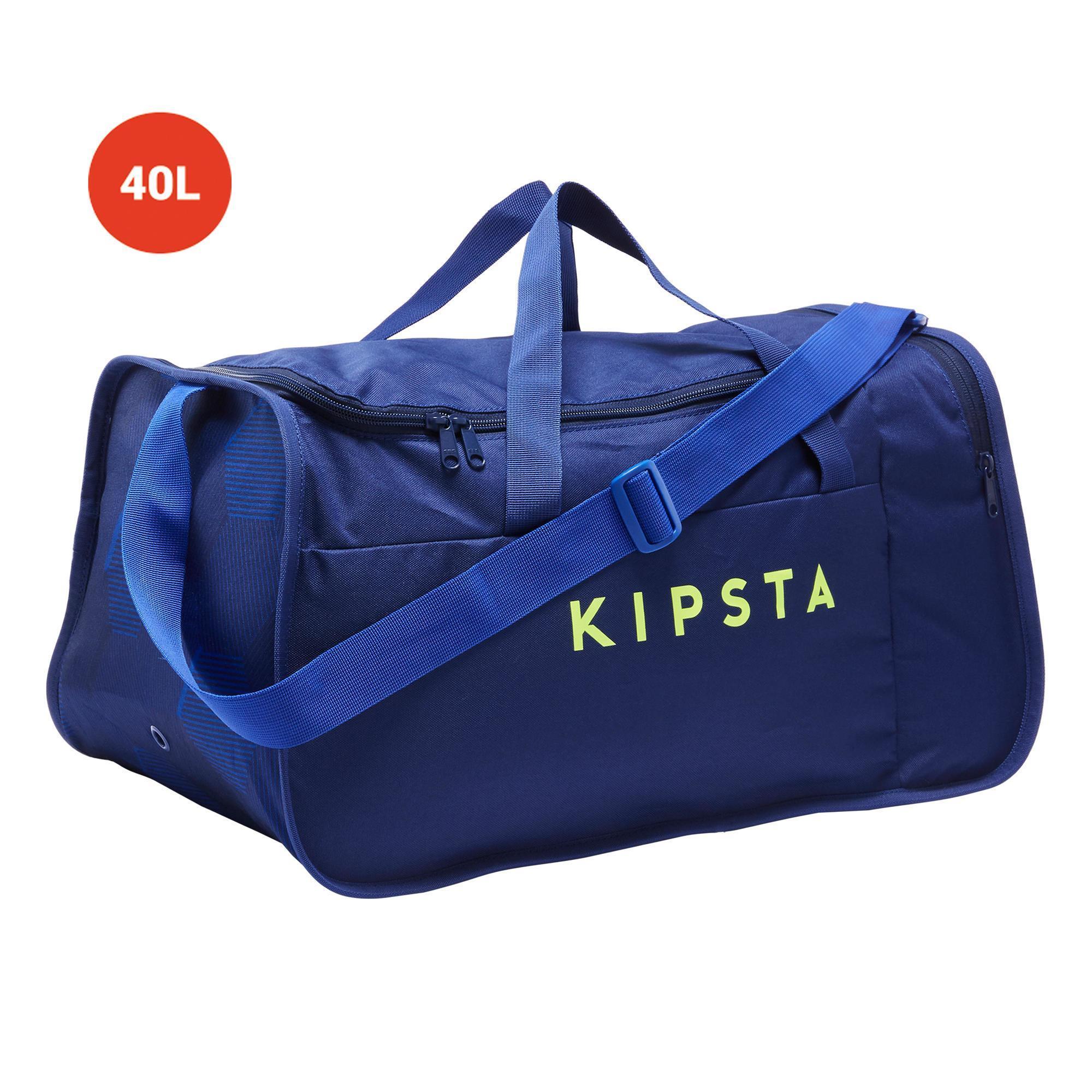 Sporttasche Kipocket 40 Liter blau/gelb