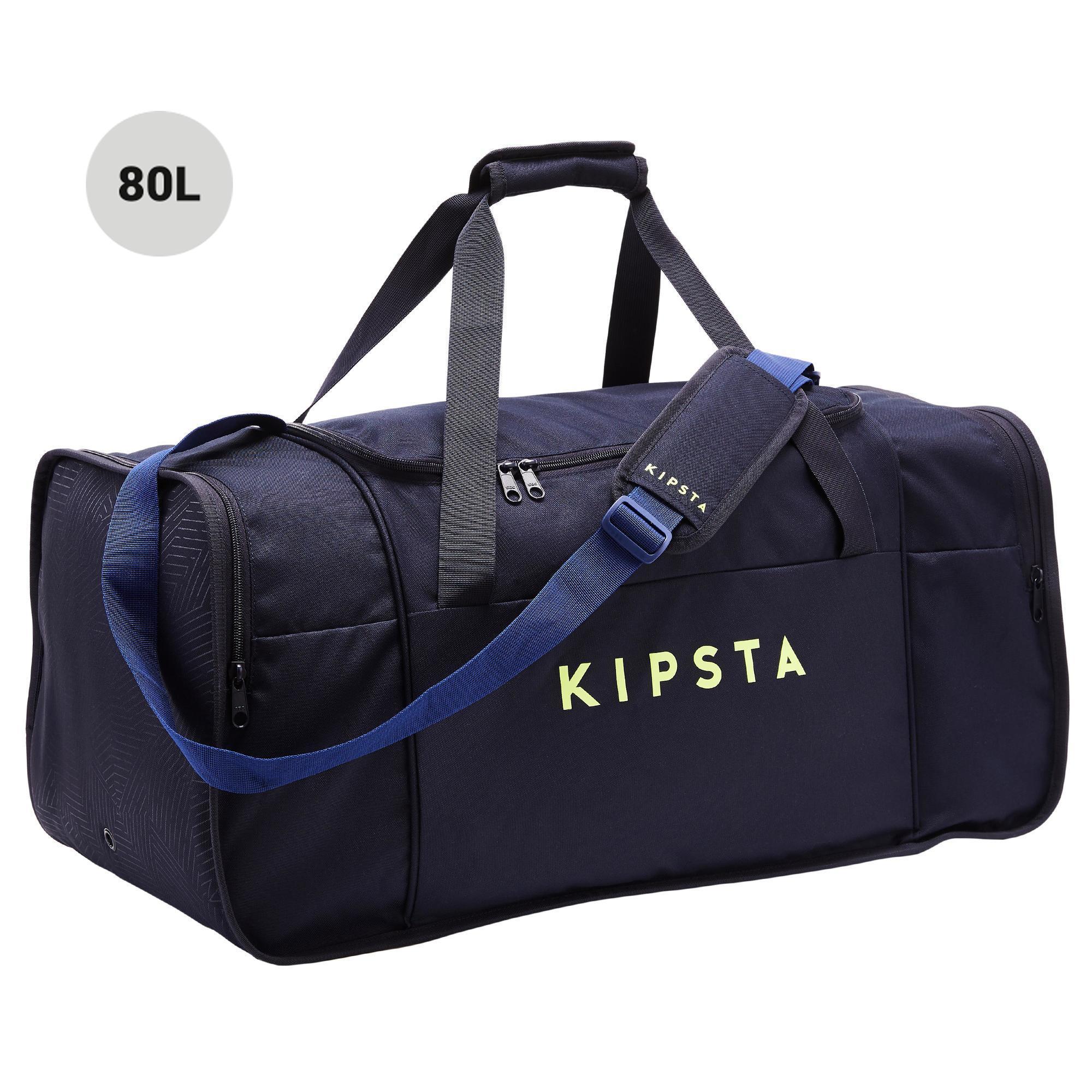 Sporttasche Kipocket 80 Liter blau/gelb