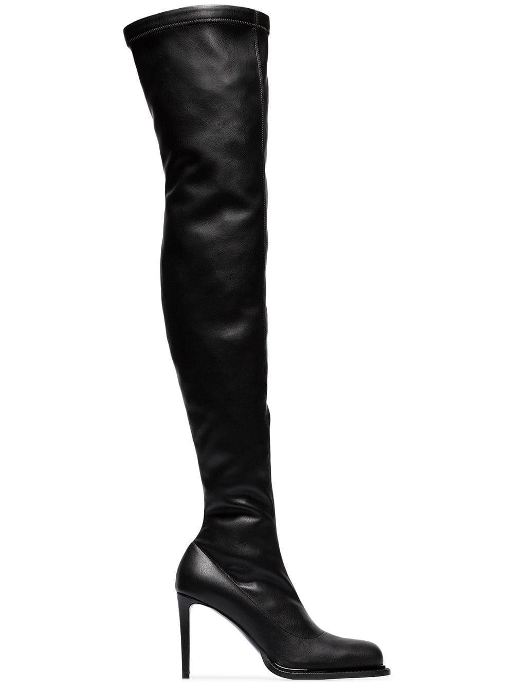 Stella McCartney Klassische Overknee-Stiefel - Schwarz