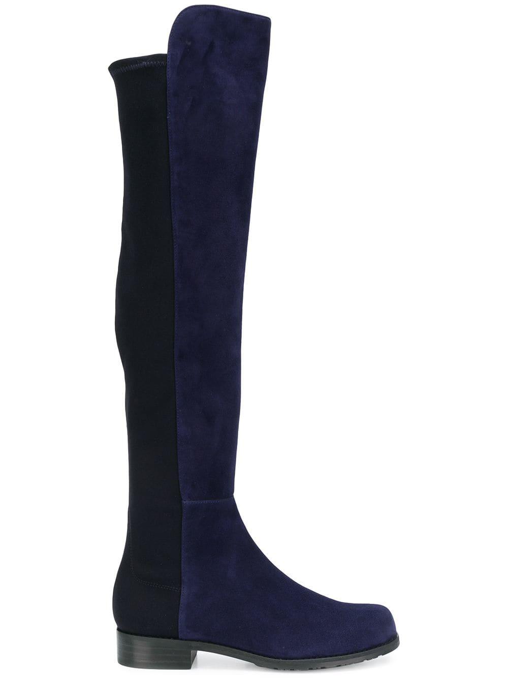Stuart Weitzman Klassische Overknee-Stiefel - Blau