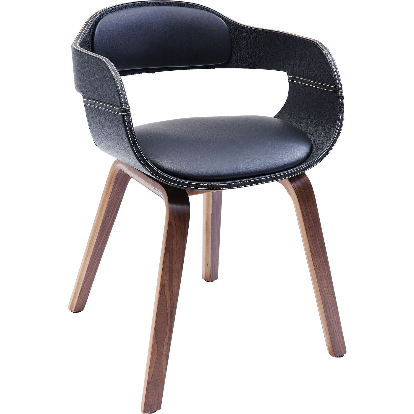 Stuhl mit Armlehne Costa Walnut