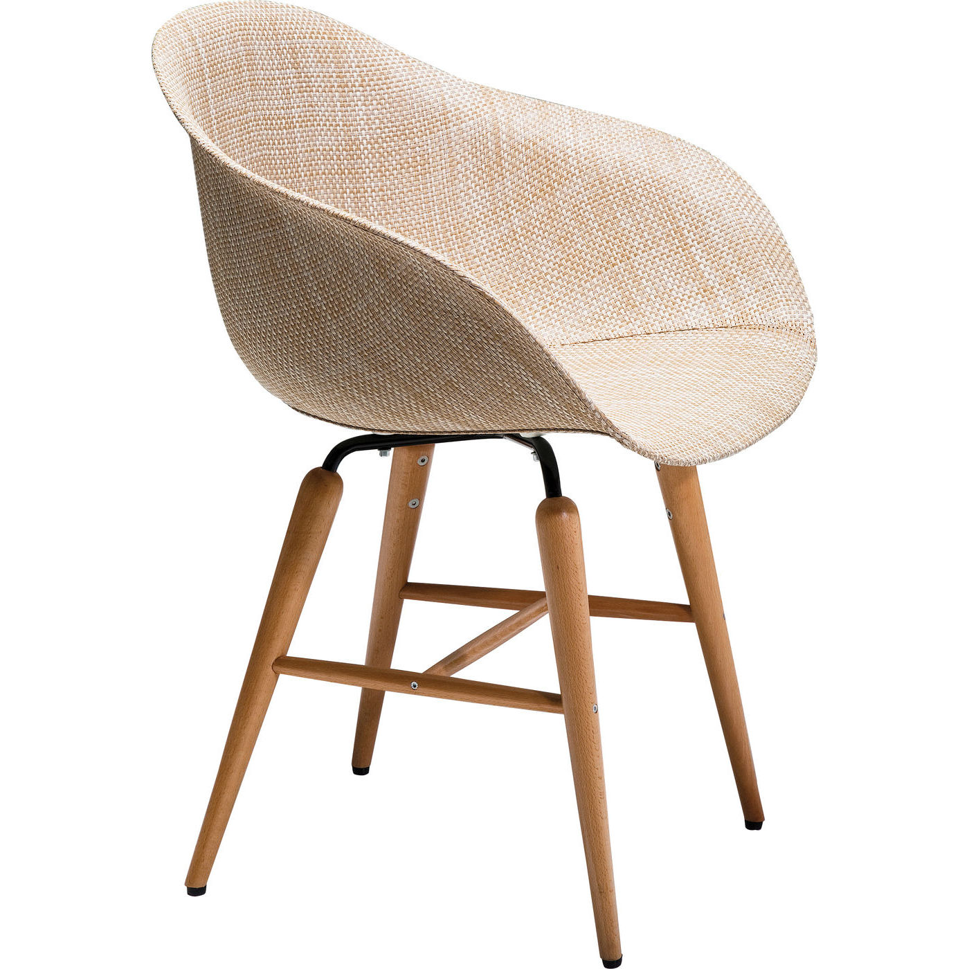 Stuhl mit Armlehne Forum Wood Natural