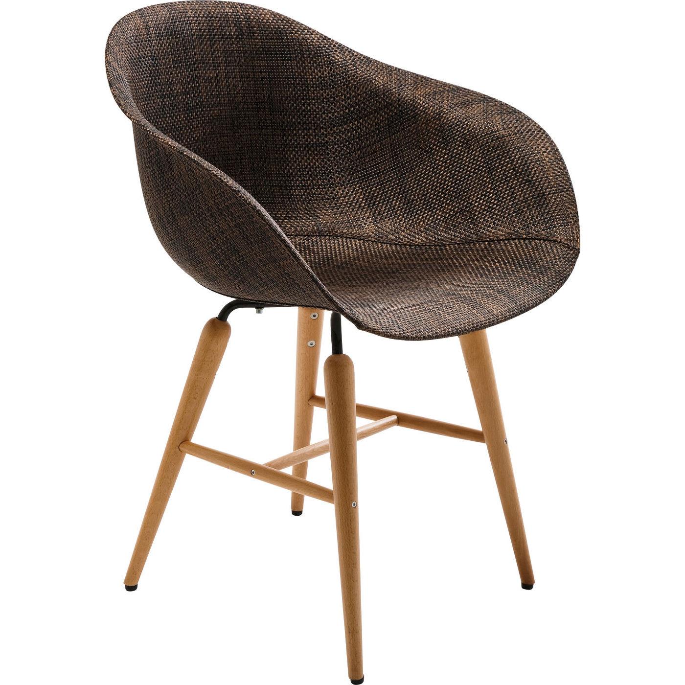 Stuhl mit Armlehne Forum Wood braun