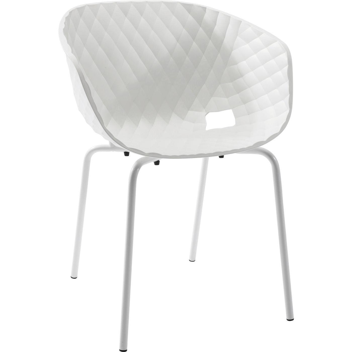Stuhl mit Armlehne Radar Bubble Weiß
