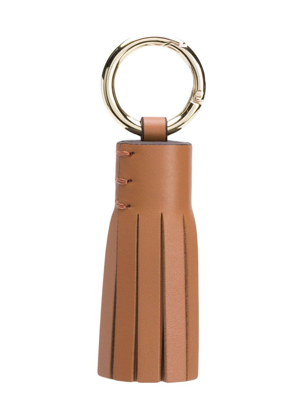 Tila March Schlüsselanhänger mit Quasten - Braun