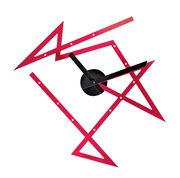 Time Maze Wanduhr / L 50 cm x H 47,5 cm - Alessi - Rot,Schwarz