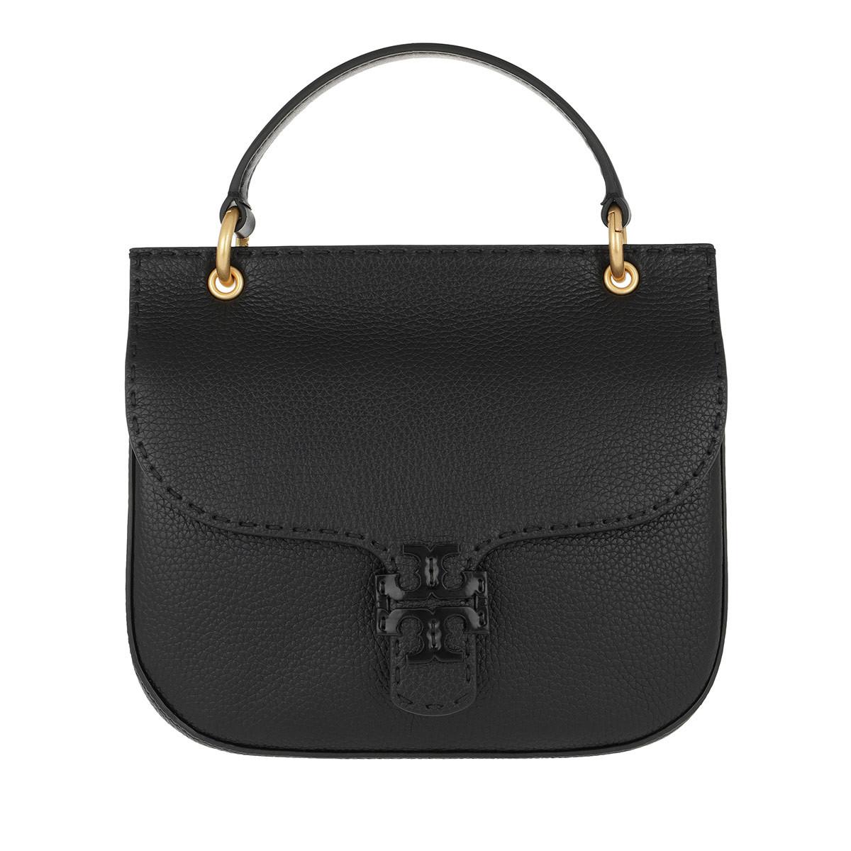 Tory Burch Satchel Bag - McGraw Satchel Bag Leather Black - in schwarz - für Damen