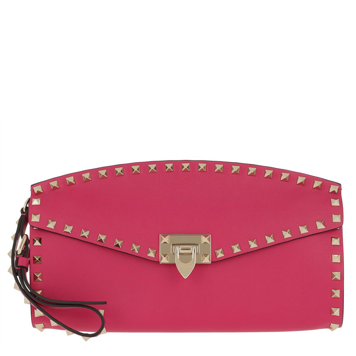 Valentino Clutch - Valentino Clutch Leather Disco Pink - in pink - für Damen