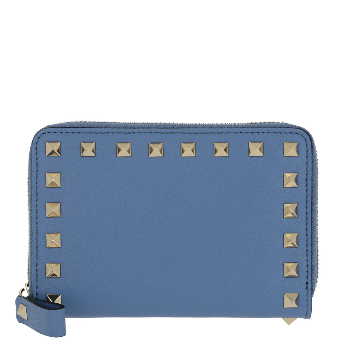 Valentino Portemonnaie - Rockstud Wallet Light Blue - in blau - für Damen