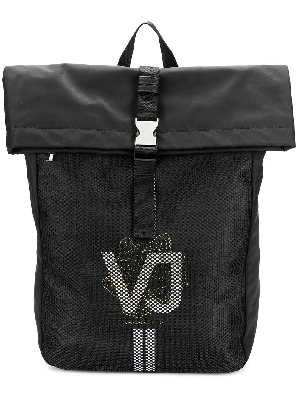 Versace Jeans Rucksack mit Logo-Print - Schwarz