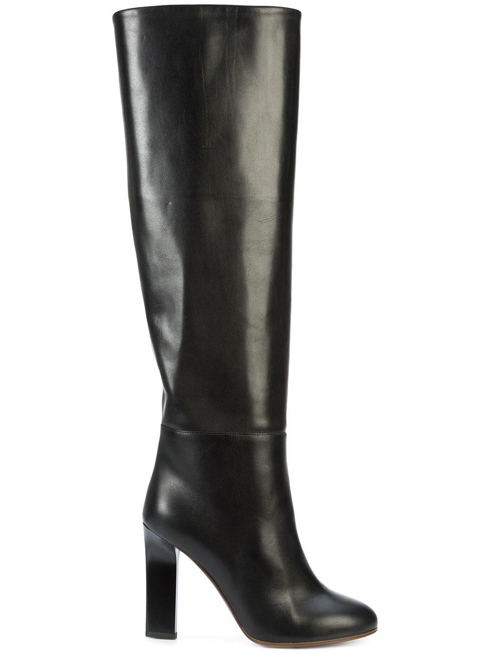 Victoria Beckham Overknee-Stiefel mit Blockabsatz - Schwarz