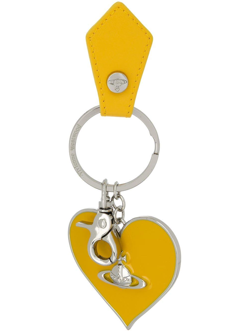 Vivienne Westwood Herz-Schlüsselanhänger - Gelb