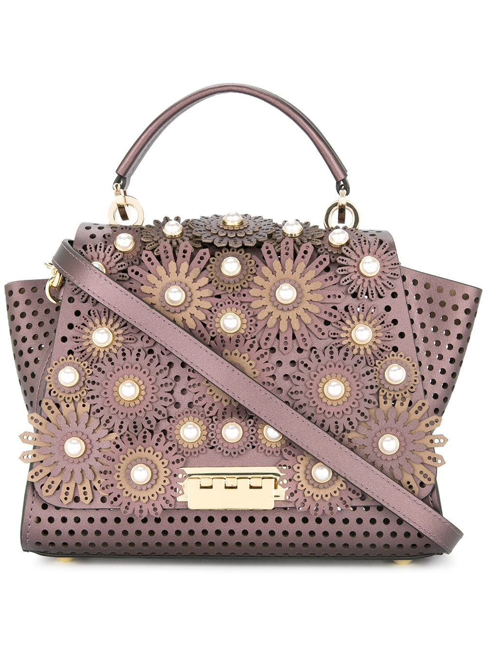 Zac Zac Posen 'Eartha' Handtasche mit Blumenapplikation - Rosa