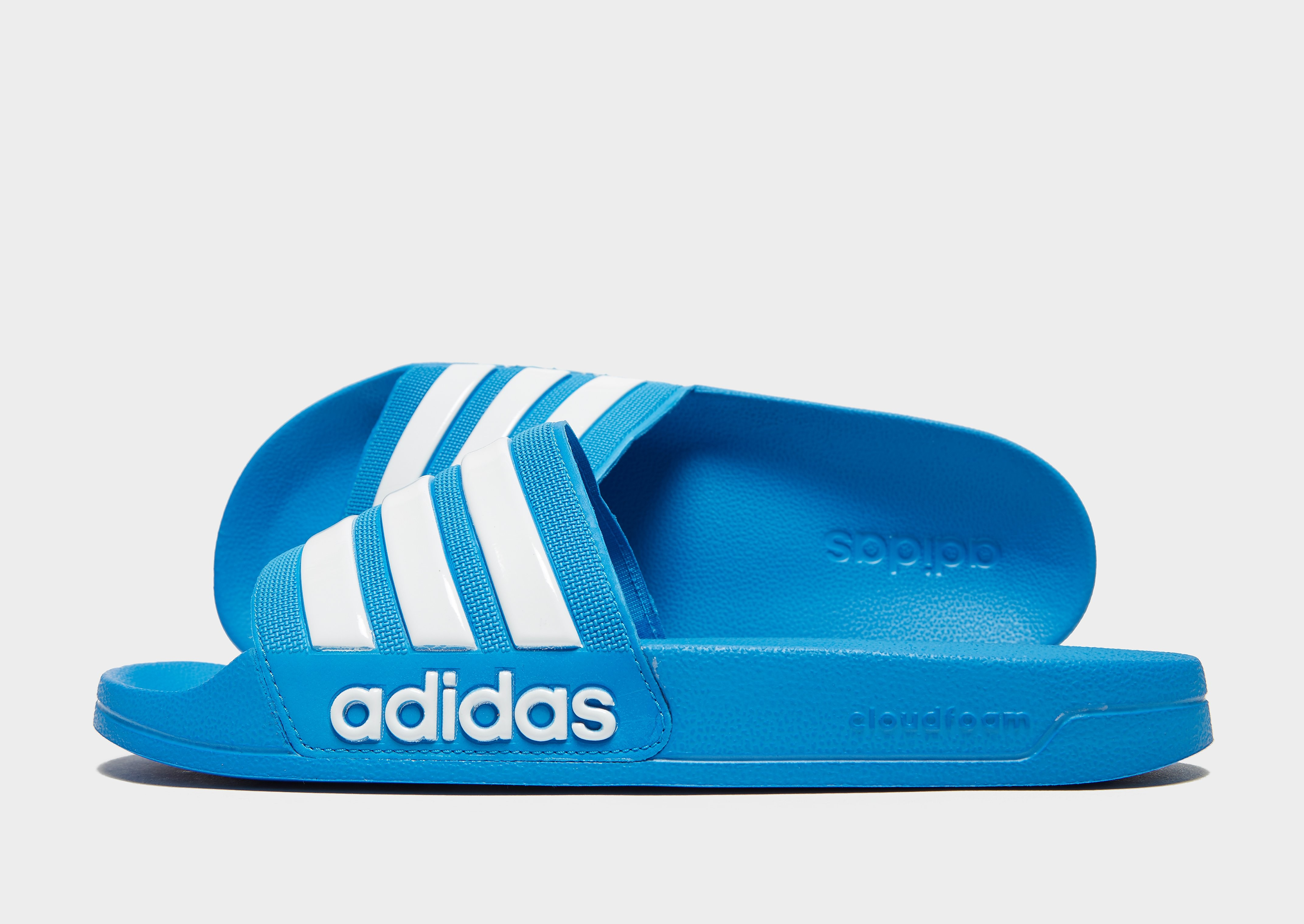 adidas Originals Adilette Cloudfoam Slides - Only at JD - Blau - Mens, Blau
