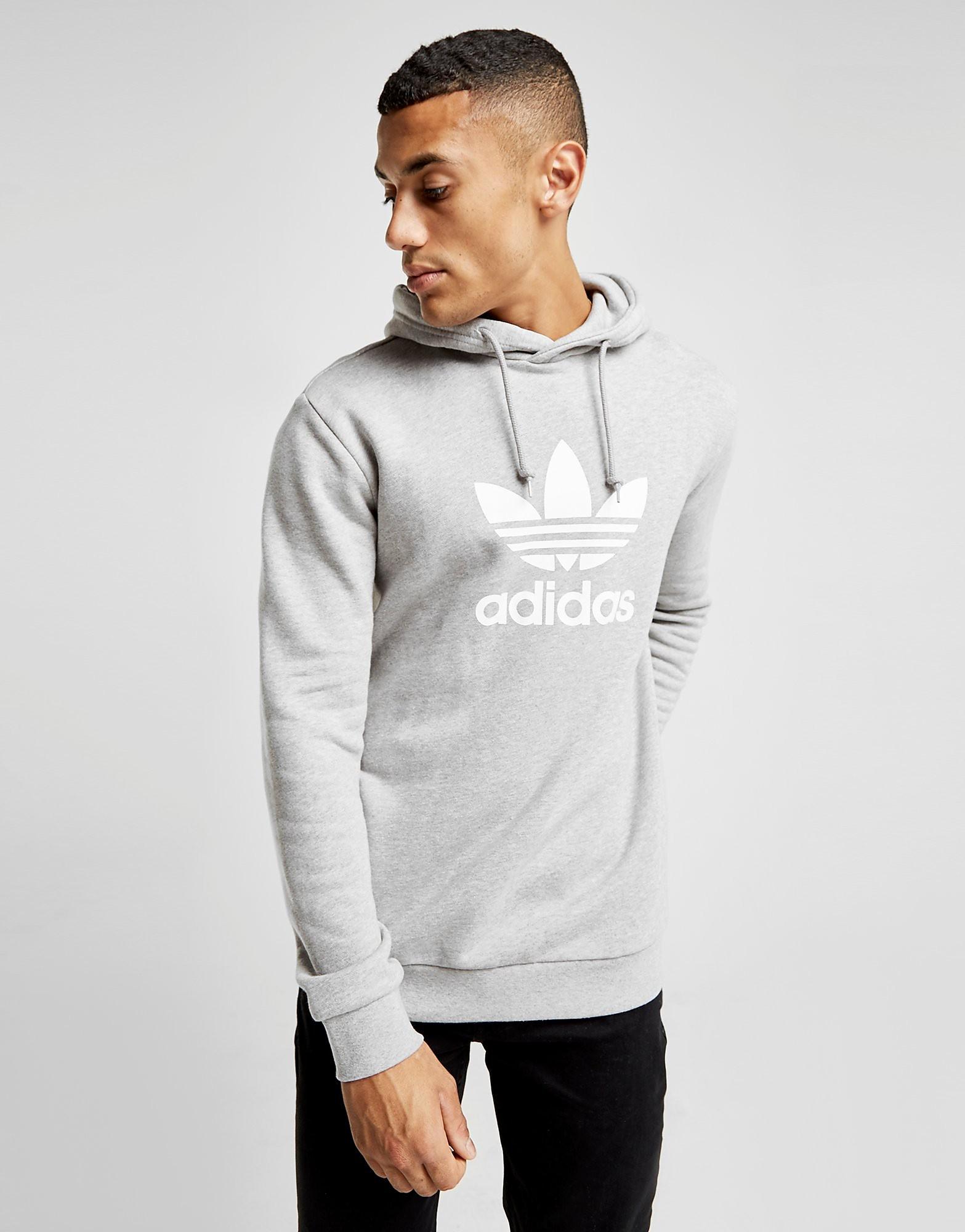 adidas Originals Trefoil State Overhead Hoodie - Grau - Mens, Grau