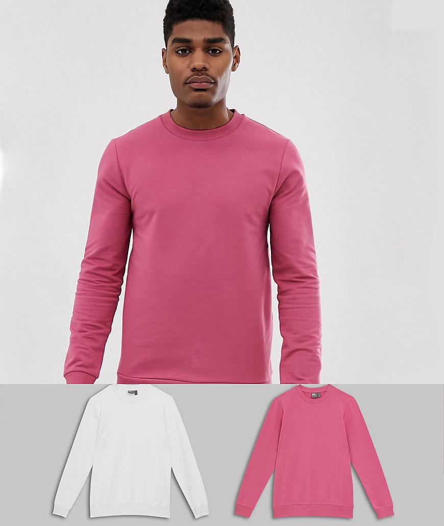 ASOS DESIGN - Muskel-Sweatshirts im 2er-Pack