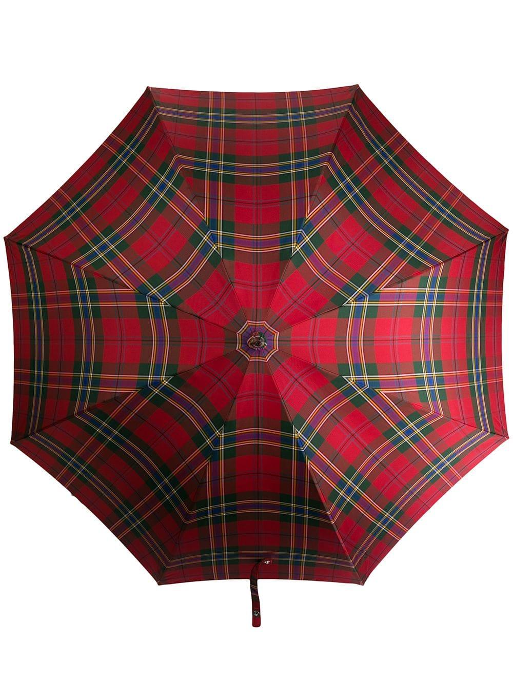 Alexander McQueen Regenschirm mit Schottenkaro - Rot