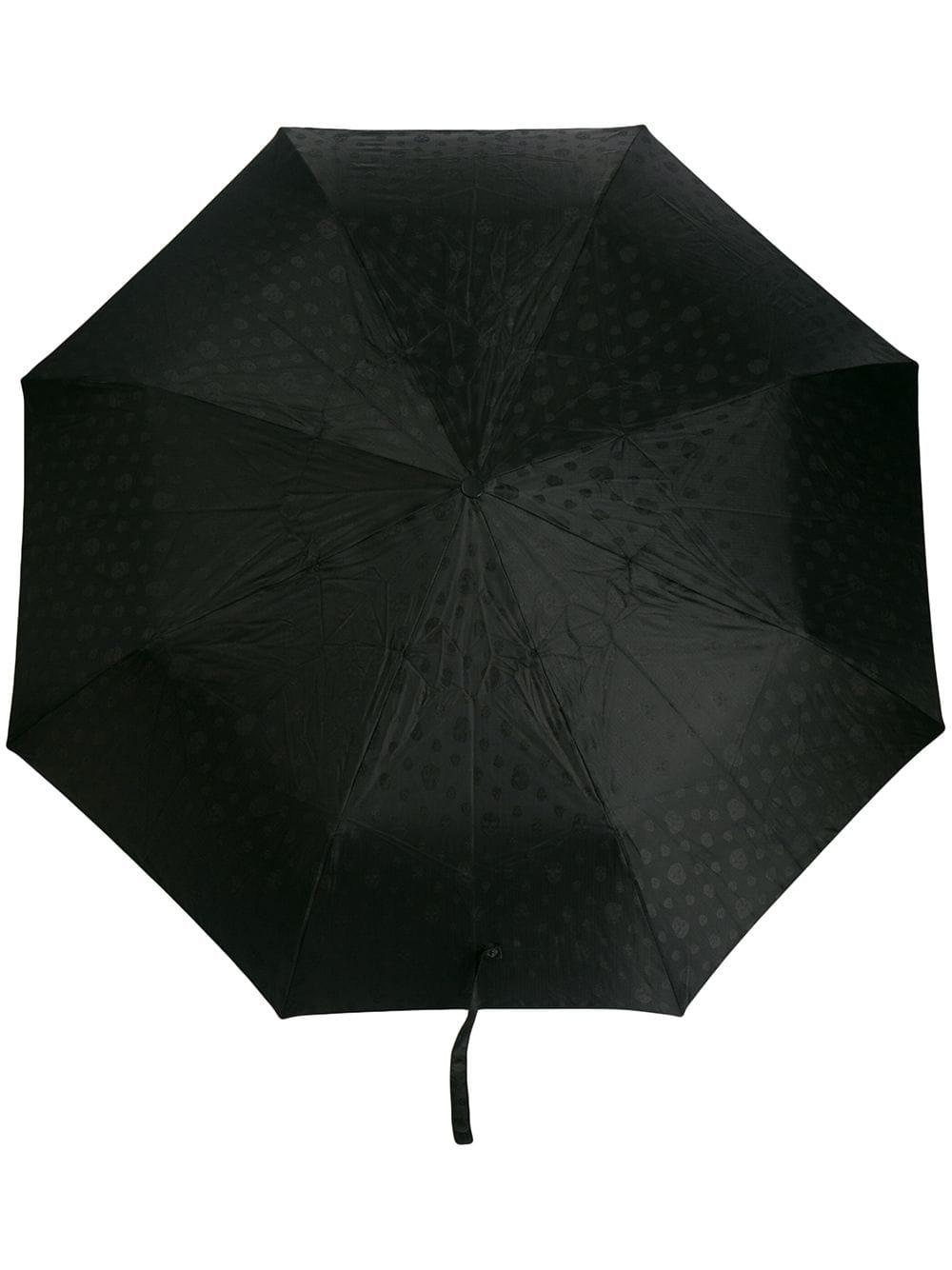 Alexander McQueen Regenschirm mit Totenköpfen - Schwarz