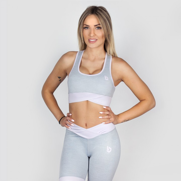 Beyond Limits Crossback Sports Bra grau-meliert altrosa