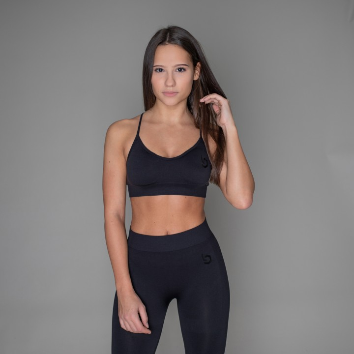 Beyond Limits Seamless Sports Bra Schwarz