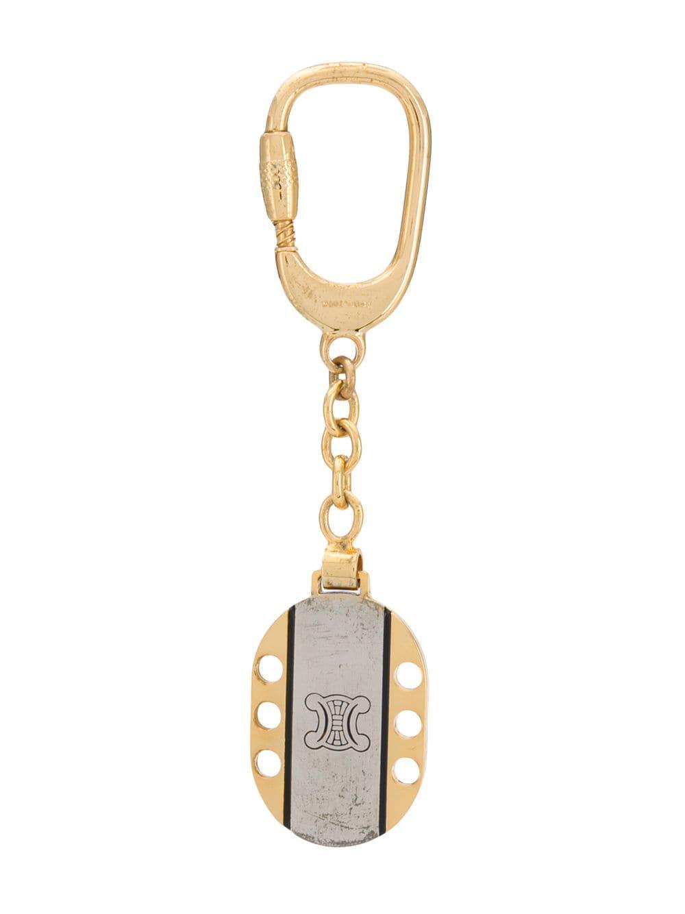 Céline Pre-Owned 1970er Schlüsselanhänger mit Logo - Gold