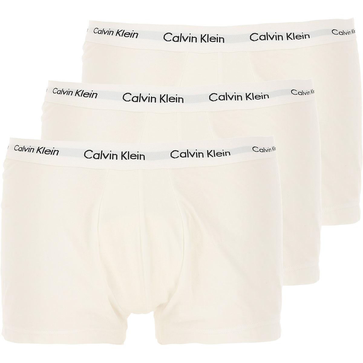 Calvin Klein Boxer Briefs for Men, Boxers, 3 Pack, White, Cotton, 2017, M (EU 4) XS (EU 2)