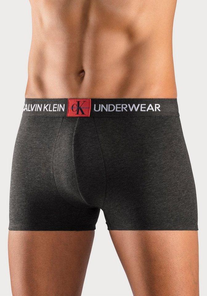 """Calvin Klein Boxer """"Monogram"""" (1 Stück), mit kontrastfarbenem Markenschriftzug"""