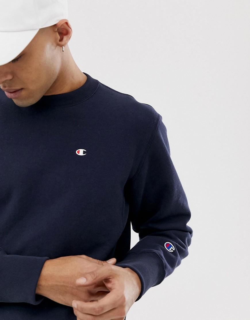 Champion - Marineblaues Sweatshirt mit kleinem Logo - Navy