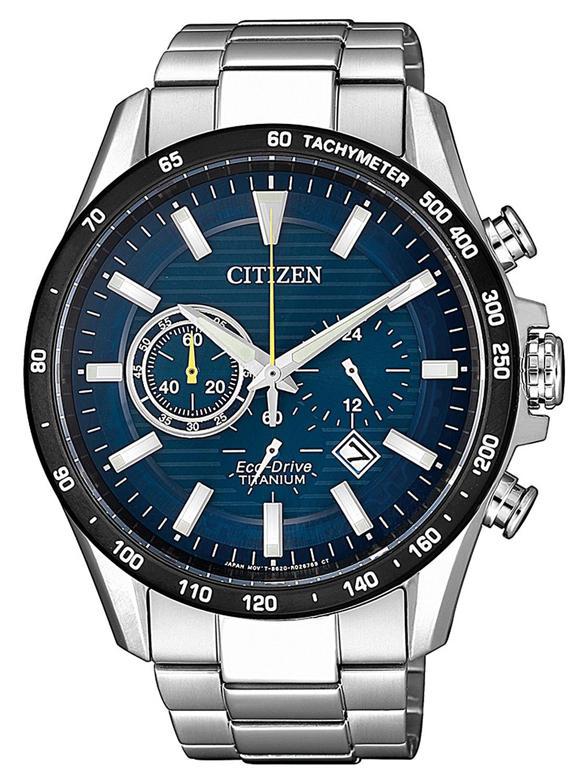 Citizen CA4444-82L Herren-Armbanduhr Eco-Drive Chronograph Titan