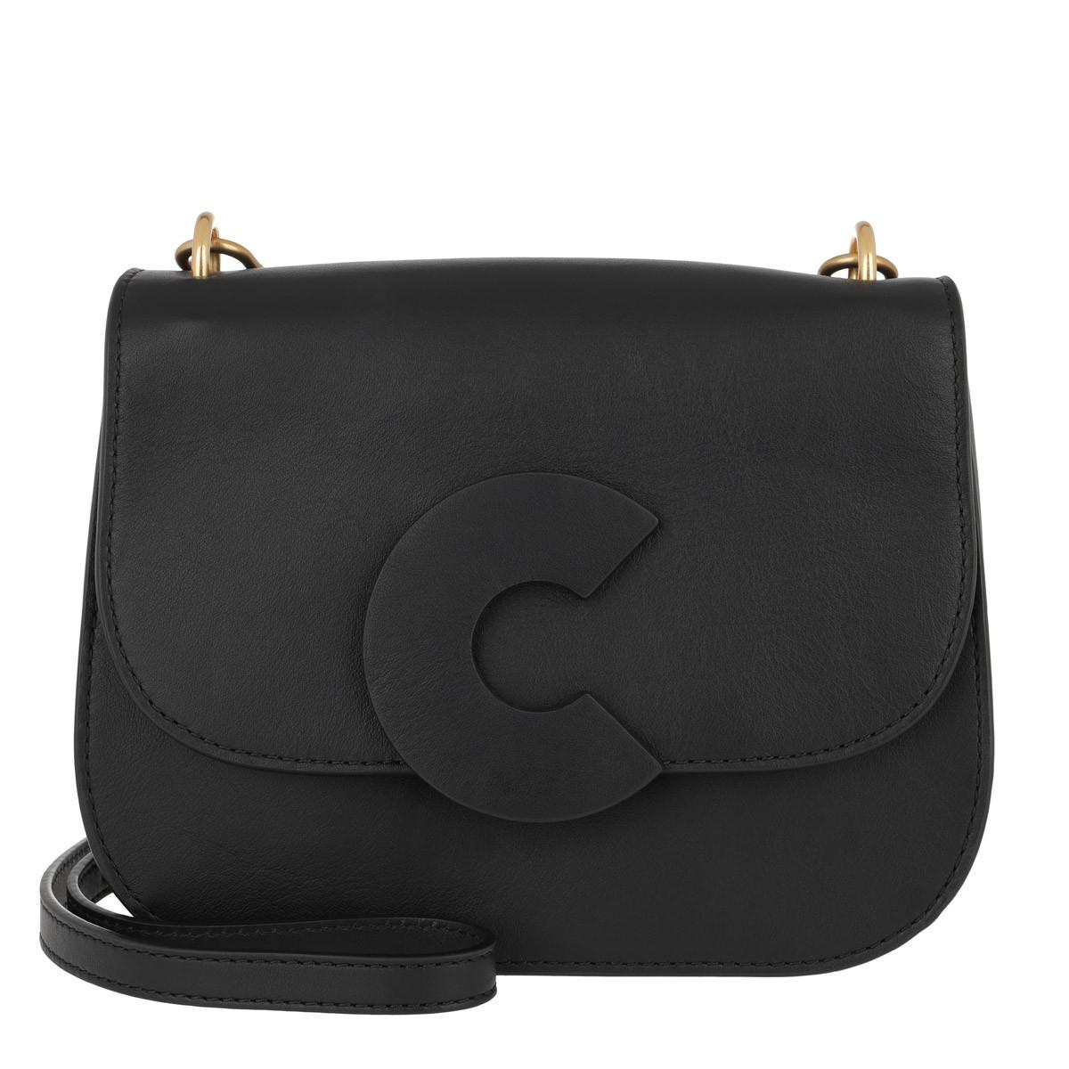 Coccinelle Umhängetasche - Craquante Smooth Medium Crossbody Bag Noir - in schwarz - für Damen