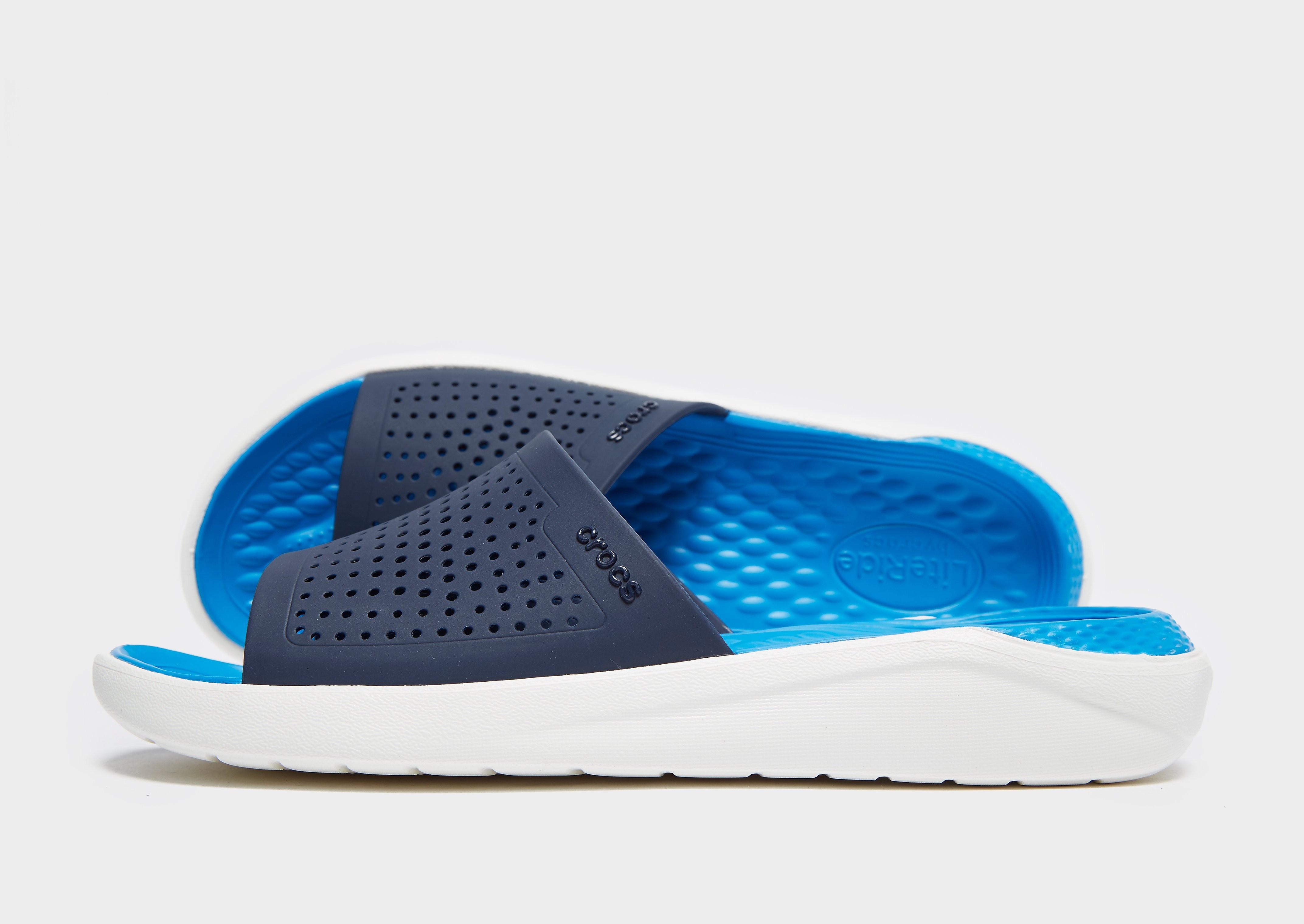 Crocs LightRide Slides Herren - Blau - Mens, Blau