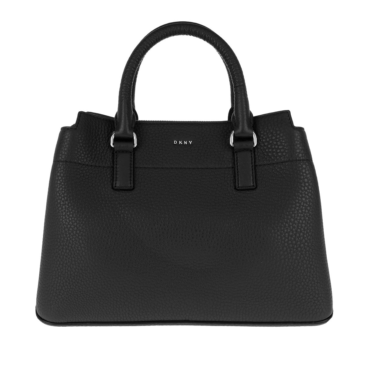 DKNY Satchel Bag - Bellah MD Satchel Bag Black/Silver - in schwarz - für Damen
