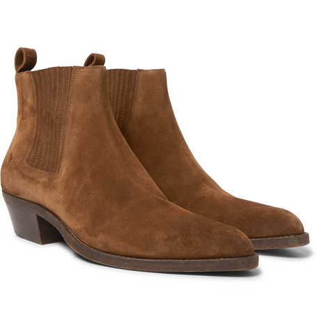 Dakota Brushed-suede Chelsea Boots - Tan
