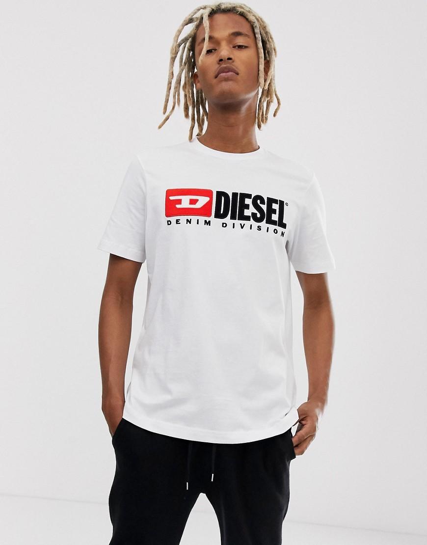 Diesel - T-Just Division - Weißes T-Shirt mit Logo - Weiß