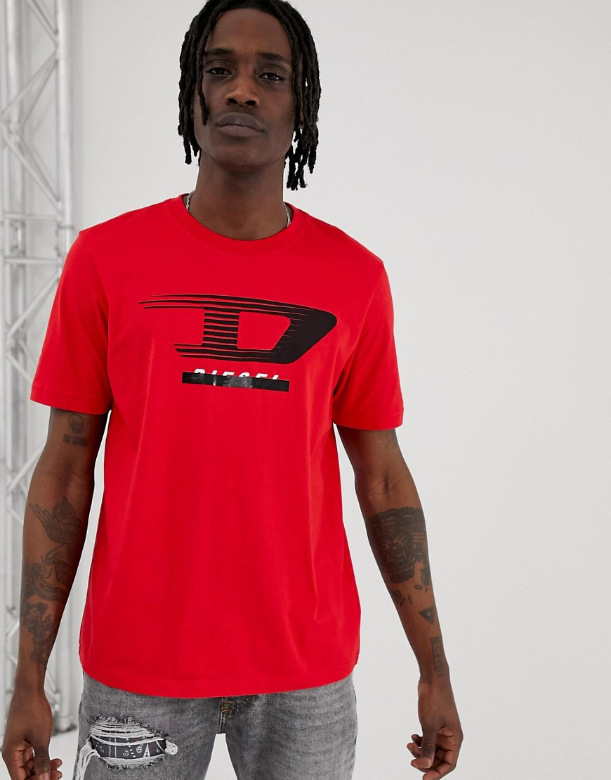 Diesel - T-Just-Y4 - Rotes T-Shirt mit Logo - Rot