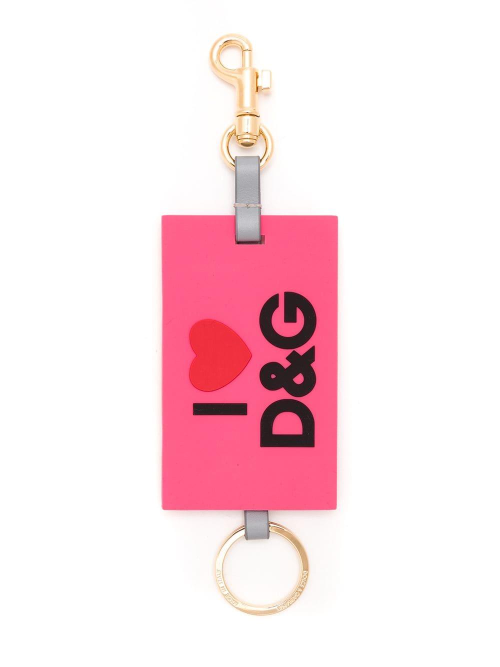 Dolce & Gabbana Schlüsselanhänger mit Logo - Rosa