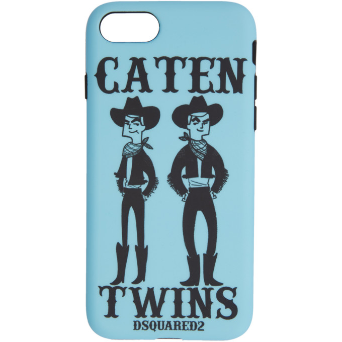 Dsquared2 Blue Caten Twins iPhone 8 Case