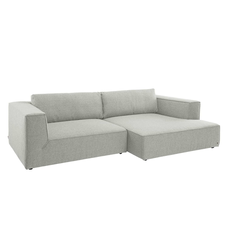 Ecksofa Big Cube Style Webstoff - Longchair davorstehend rechts - Stoff TBO39 powder grey, Tom Tailor