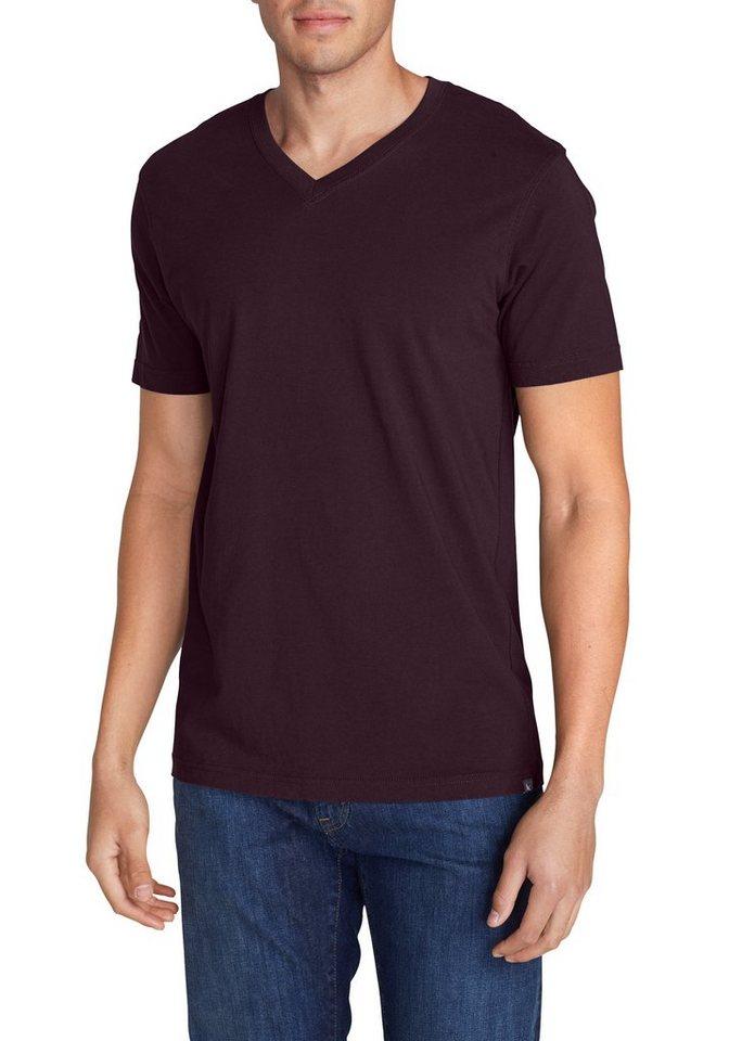 Eddie Bauer T-Shirt Legend Wash Kurzarm-Shirt mit V-Ausschnitt