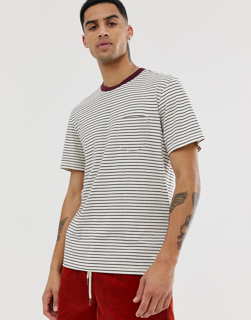Element - Rocky - Gestreiftes T-Shirt in Weiß - Weiß