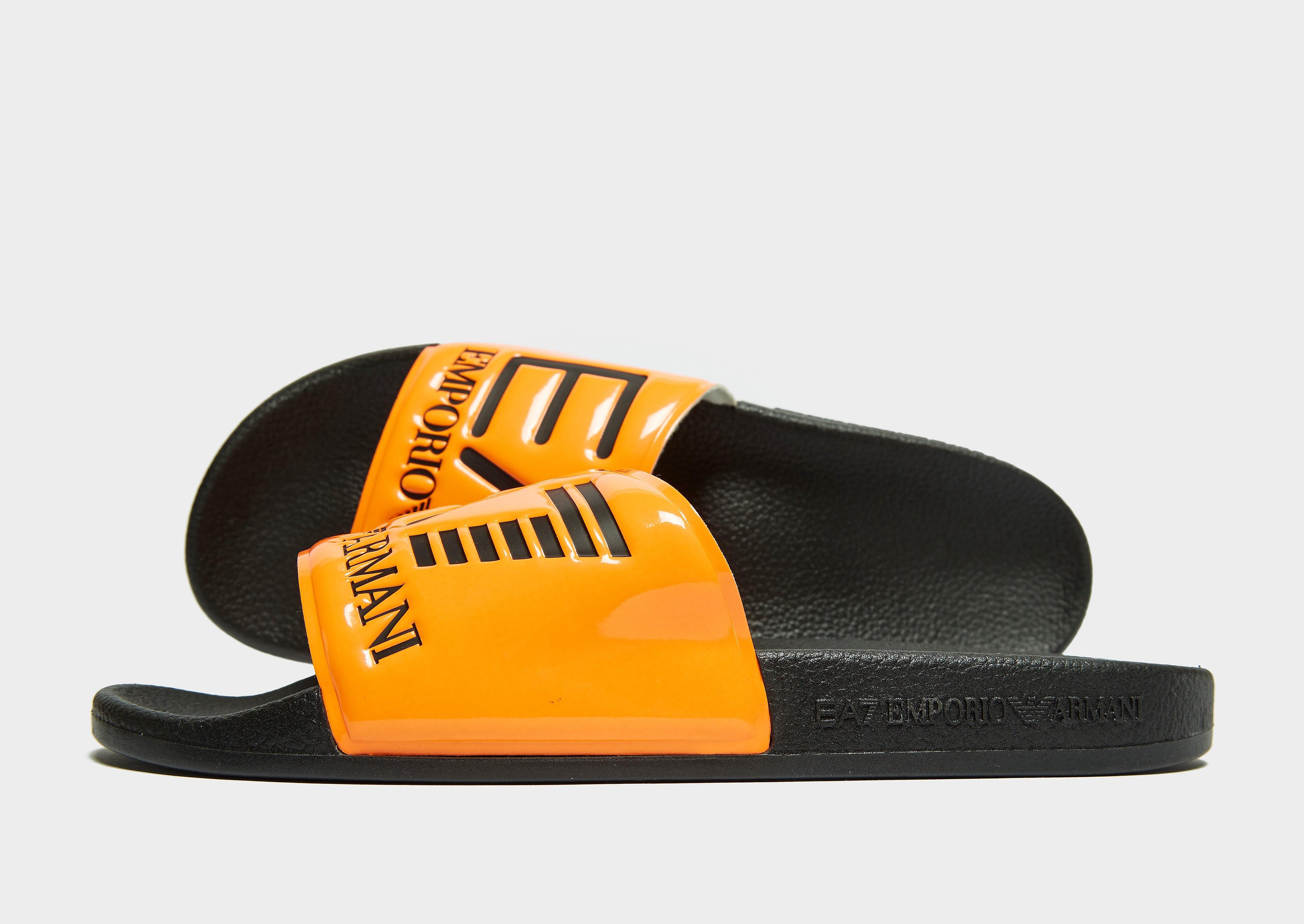 Emporio Armani EA7 Seaworld Slides Herren - Orange - Mens, Orange