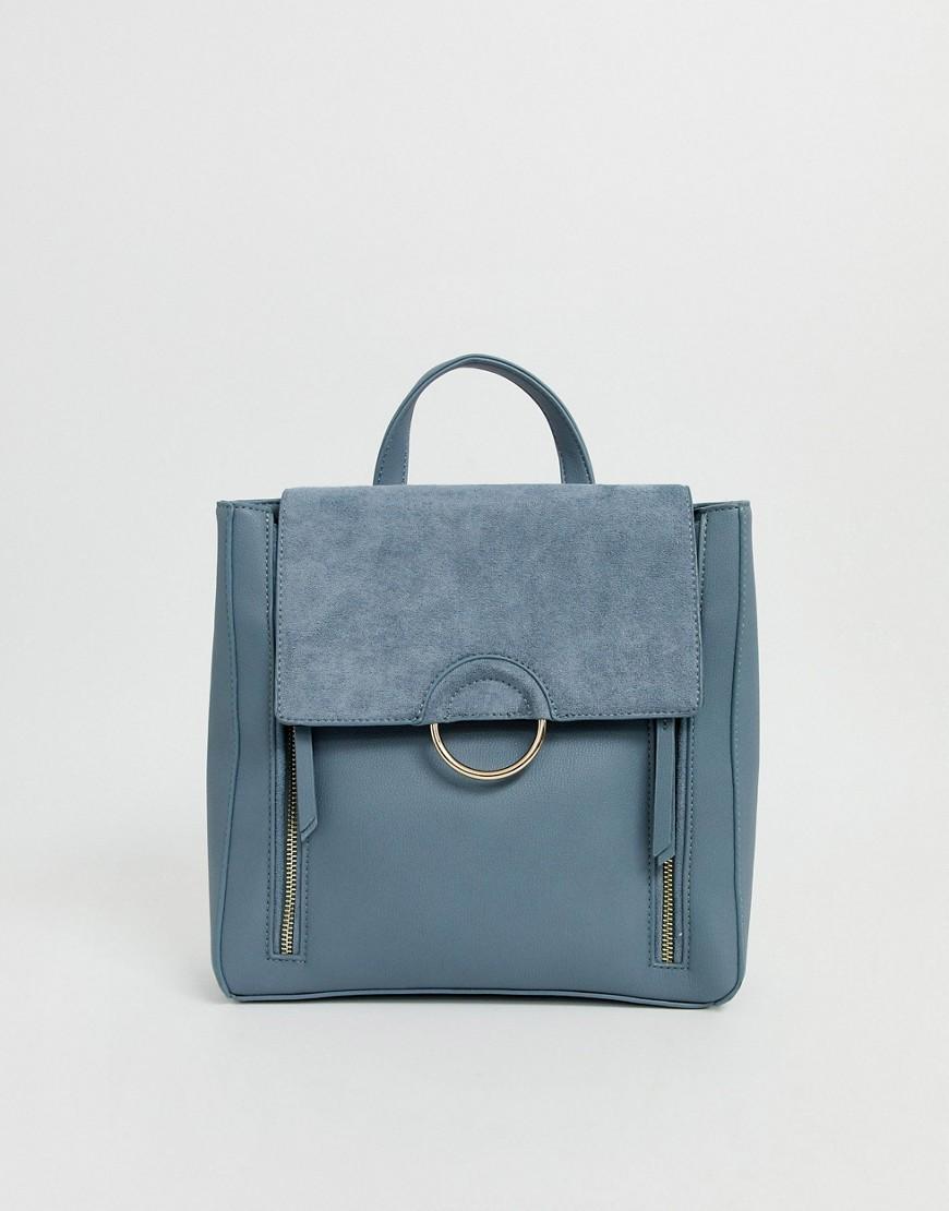 Forever New - Blauer Rucksack mit Reißverschluss - Blau