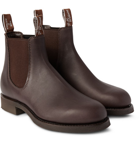 Gardener Whole-cut Leather Chelsea Boots - Brown