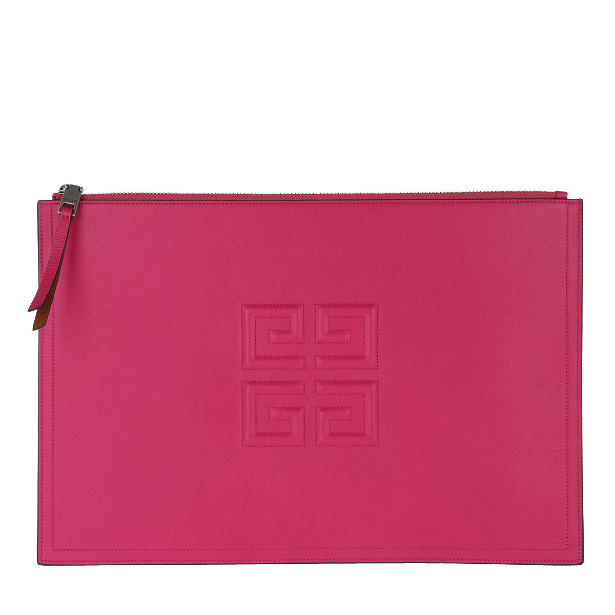 Givenchy Clutch - 4G Embossed Logo Clutch Leather Cyclamen - in pink - für Damen