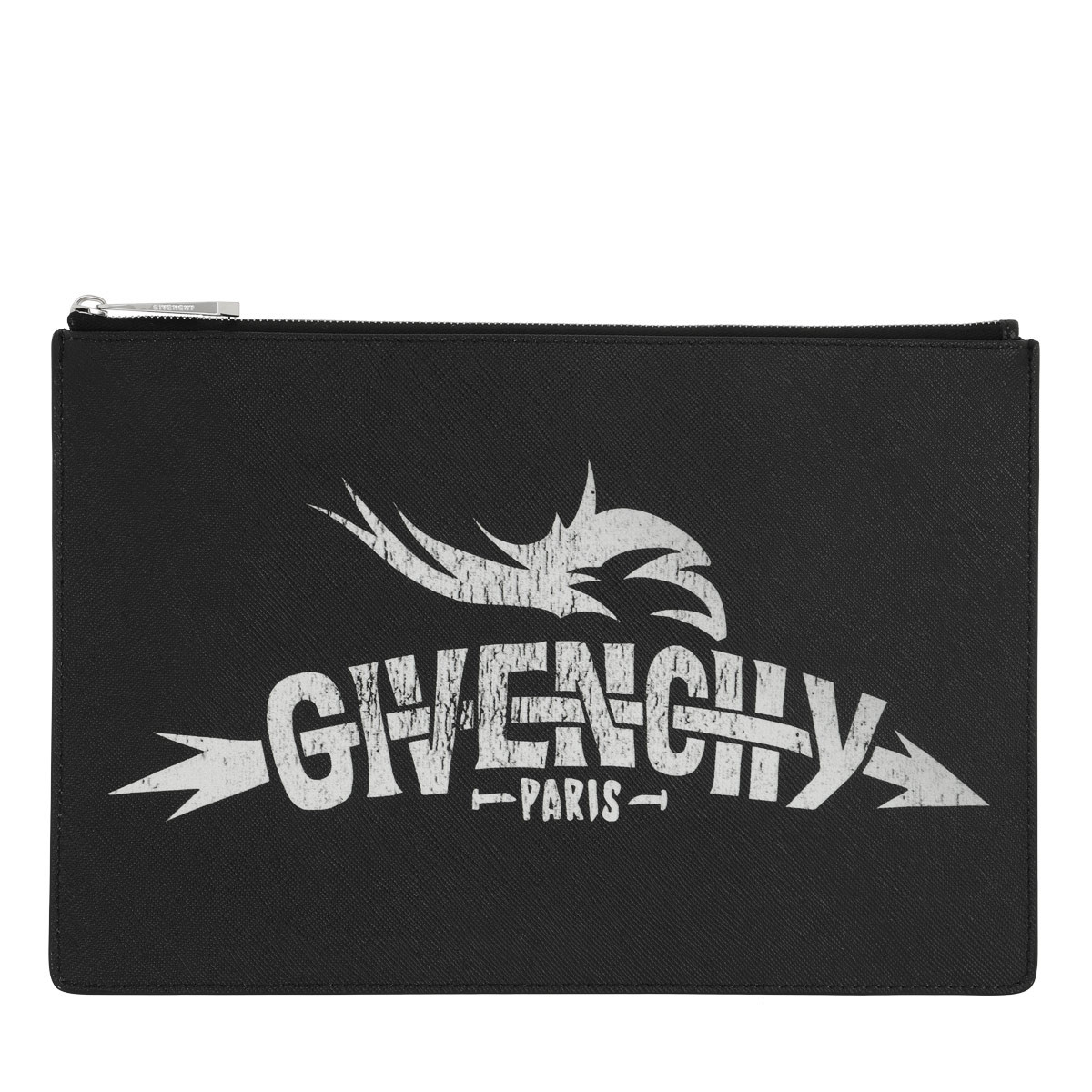 Givenchy Clutch - Icon Printed Clutch Bag Leather Black - in schwarz - für Damen