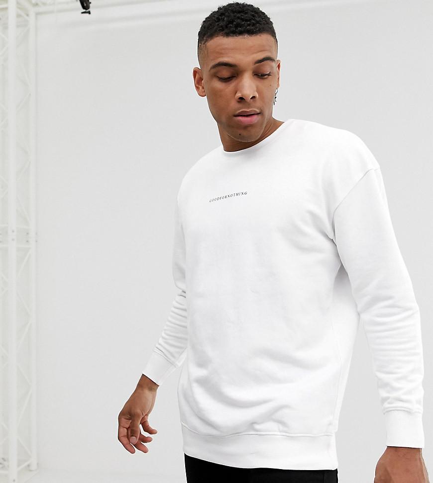 Good For Nothing - Weißes Oversize-Sweatshirt mit Logo - Weiß