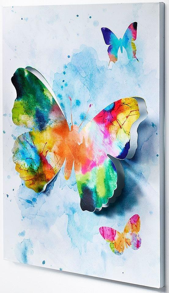 """Home affaire Wandbild """"3D Schmetterling"""""""