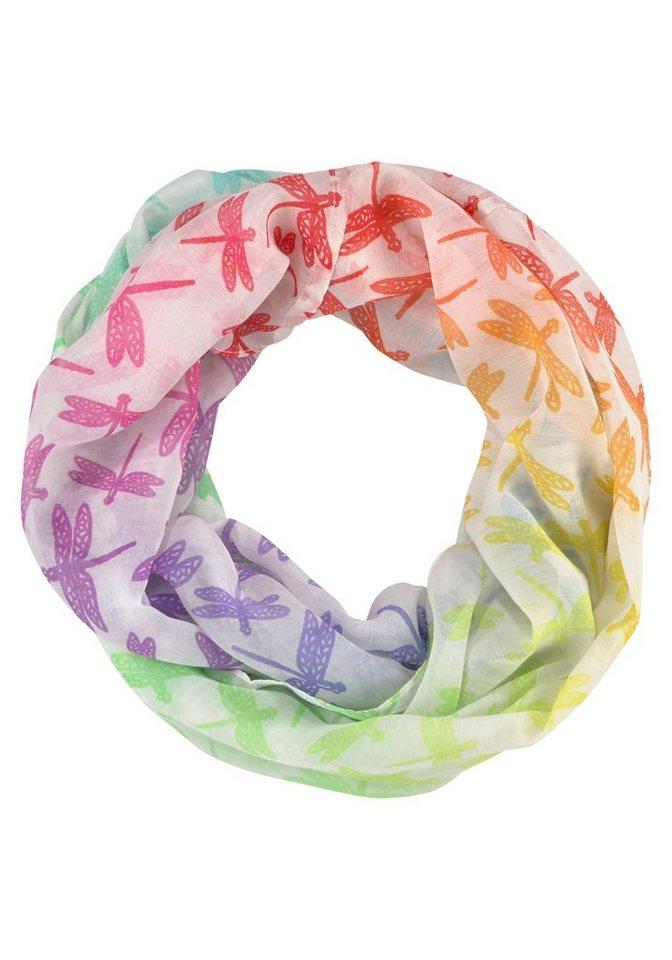 J.Jayz Loop mit Tierprint, Libellen, multicolor